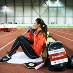 Long jumper Ivana Spanovic of Serbia seen during the first athletics Serbian Open Indoor Meeting in Belgrade, Serbia on March 1st, 2016.