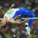 RIO DE JANEIRO, BRAZIL - AUGUST 17:  Mihail Dudas of Serbia competes in the Men's Decathlon High Jump on Day 12 of the Rio 2016 Olympic Games at the Olympic Stadium on August 17, 2016 in Rio de Janeiro, Brazil.  (Photo by Matthias Hangst/Getty Images)